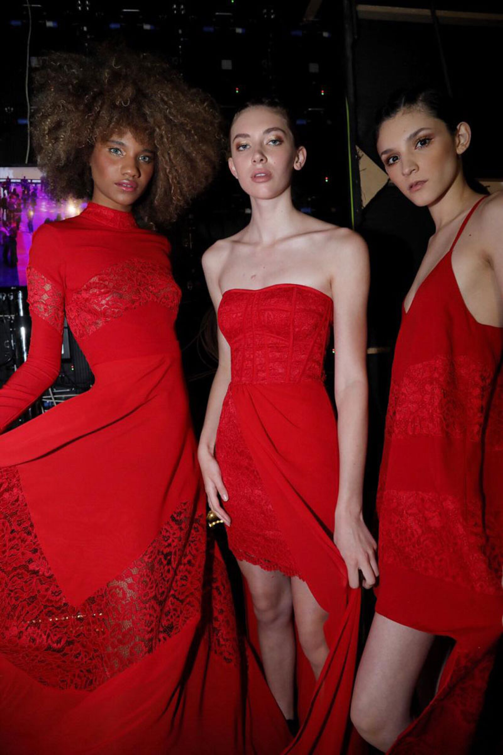 Vero-Diaz-MBFWMx-Models-Wearing-Red-On-Backstage