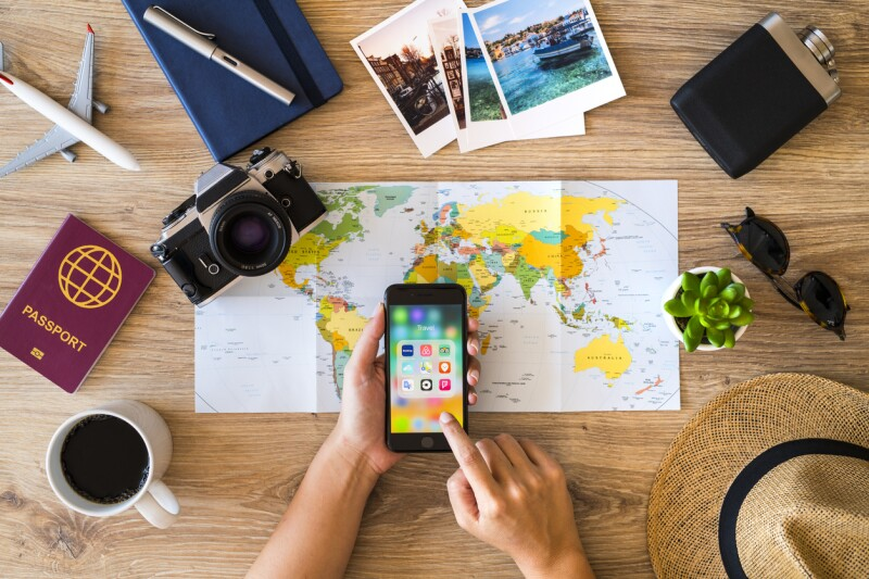 Planning a travel with iPhone