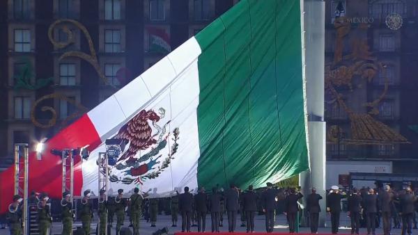 Así fue el izamiento de bandera y el homenaje a las víctimas del sismo de 1985