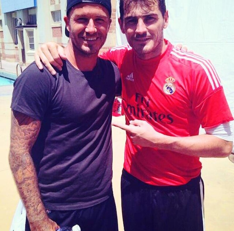 David Beckham e Iker Casillas fueron compañeros de equipo cuando David jugaba con el equipo español en sus mejores temporadas.