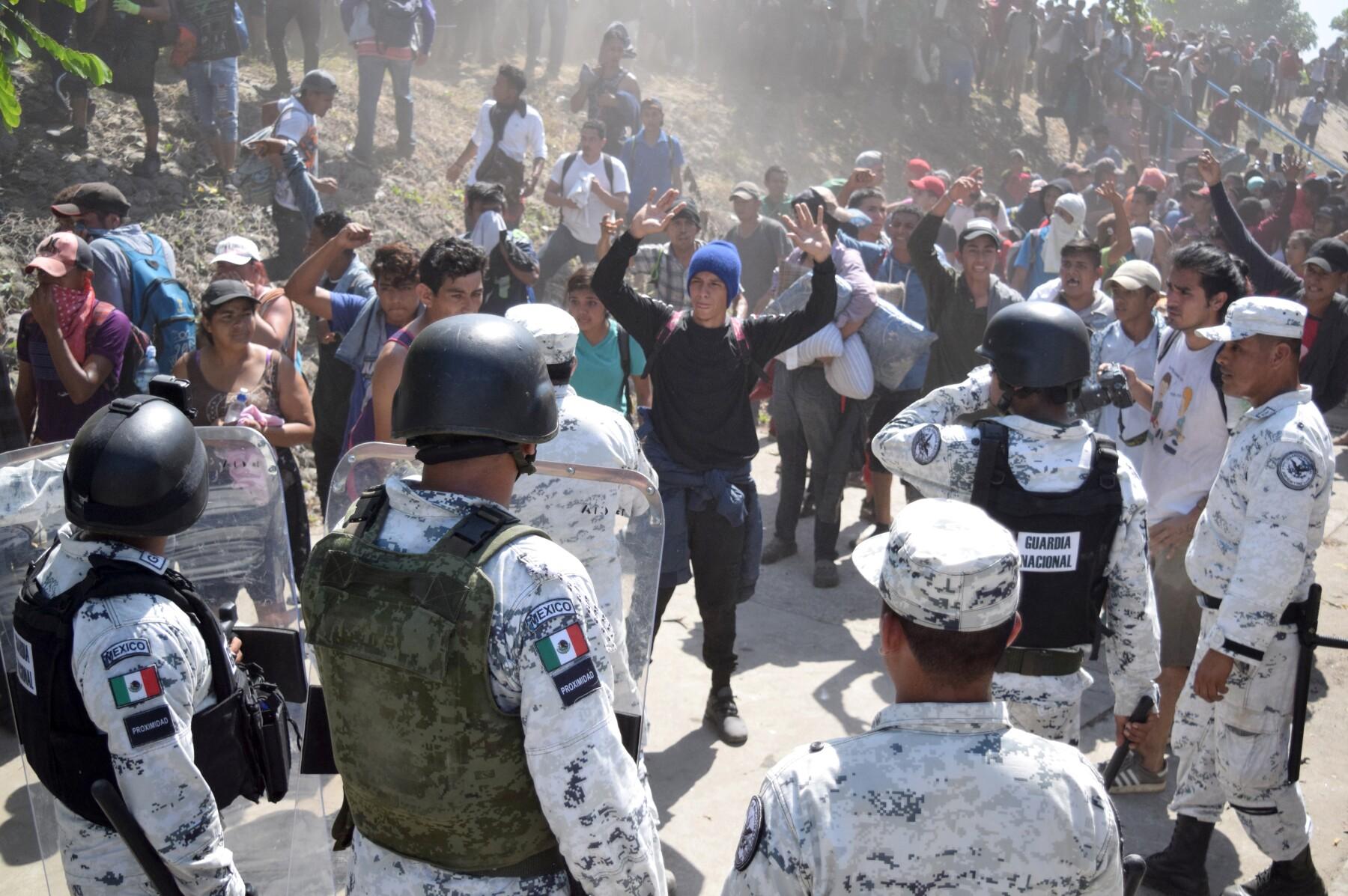 caravana migrante chiapas