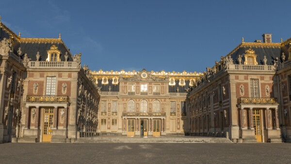 Exterior of the Palace of Versailles.