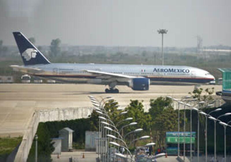 Aeroméxico asegura que recuperó el nivel de ocupación del 2008.  (Foto: Archivo NTX)