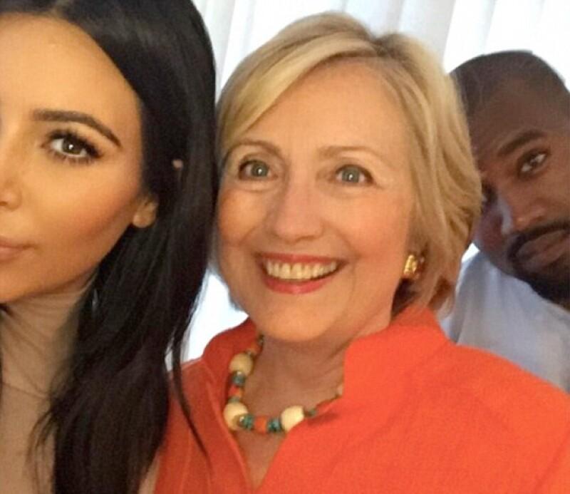 Hillary Clinton admitió tener una buena relación con Kim Kardashian y Kanye West.