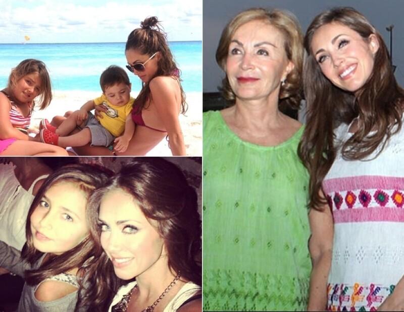 Por medio de Instagram, Anahí ha demostrado la importancia que tiene la familia en su vida.