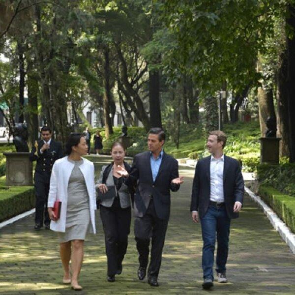 Zuckerberg dijo que México está mejor conectado que otros países de América Latina.