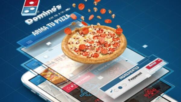 La aplicación, disponible para los sistemas iOS y Android, fue presentada por la empresa este jueves (Foto: Tomada de Dominos Pizza )
