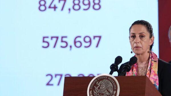 CIUDAD DE MÉXICO, 10SEPTIEMBRE2019.- Claudia Sheinbaum, jefa de Gobierno de la Ciudad de México, durante la conferencia de prensa matutina para informar de la distribución y presupuesto del programa de pensiones a adultos mayores. FOTO: GALO CAÑAS /CUARTOSCURO.COM