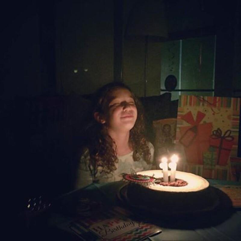 La conductora y el músico aprovecharon las redes sociales para expresar todo el cariño que sienten por su hija mayor, quien cumple hoy 11 años.