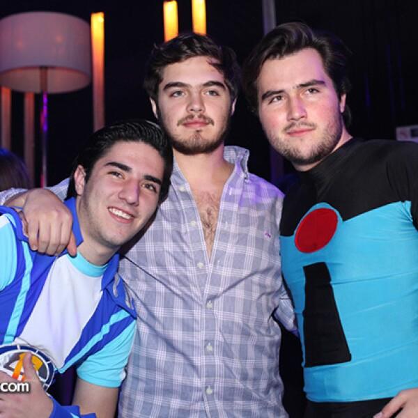 Sebastián Durán,Michel Zarur y Adolfo Baeza