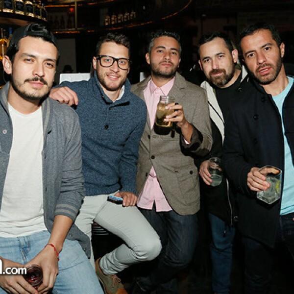 Miguel Gold,Enrique Uzcanga,Enrique Solórzano,Antonio Carvallido y Juan Carlos Lara