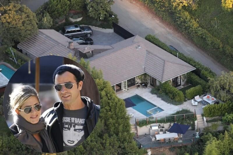 La pareja vive en esta casa desde agosto.