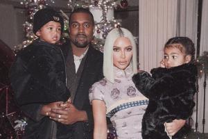 Kim Kardashian, Kanye West, North, Saint