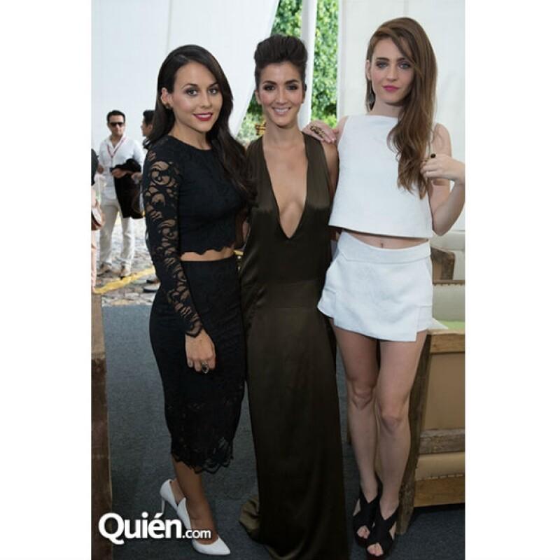 Zuria Vega, Eréndira Ibarra y Ona Casamiquela, protagonistas de la cinta.