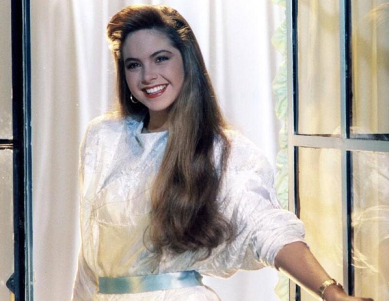 La actriz en el melodrama `Los Parientes Pobres´.