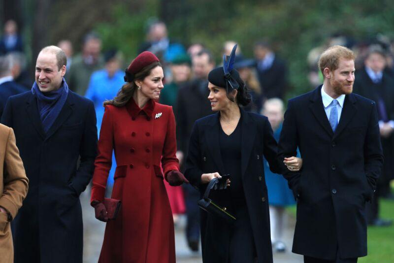 Los duques de Cambrige y los duques de Sussex