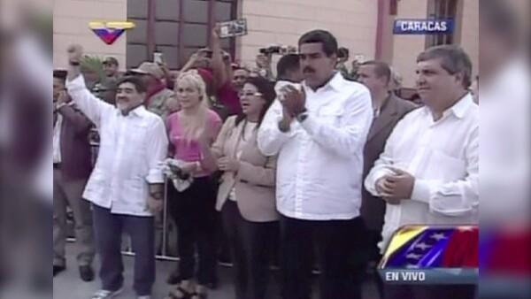 """""""Cuando Maduro ordene estoy vestido de soldado"""", escribió Diego Armando Maradona"""