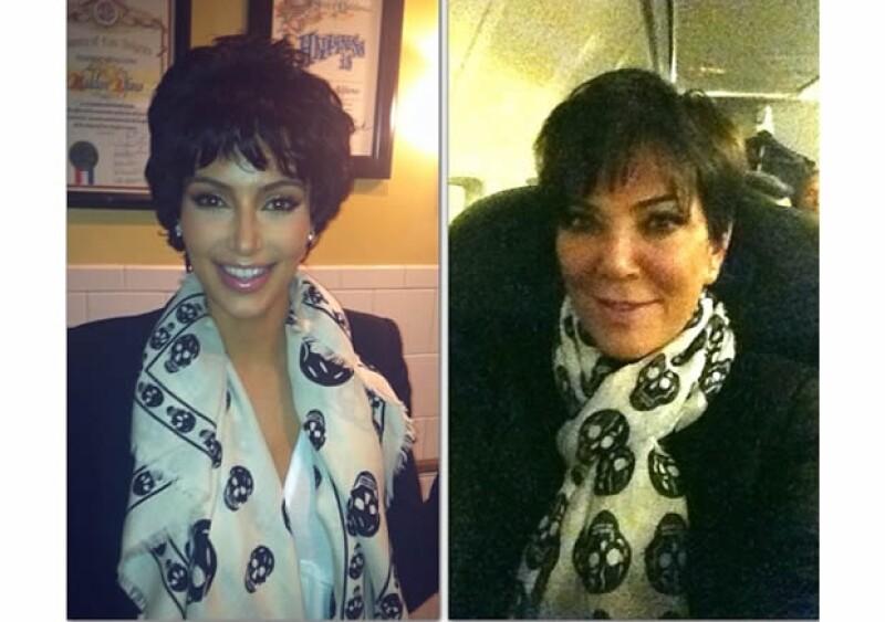 Kim suele bromear con su mamá.