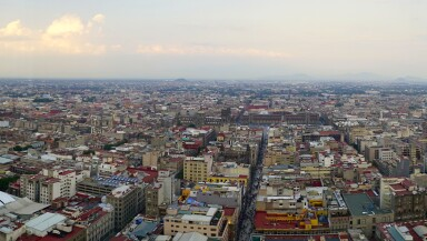 Mexico City panoramic view from observation deck