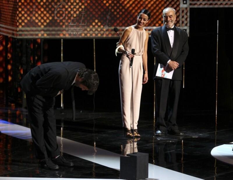 """El director Diego Quemada-Diez celebró el triunfo de su película """"La jaula de oro""""."""