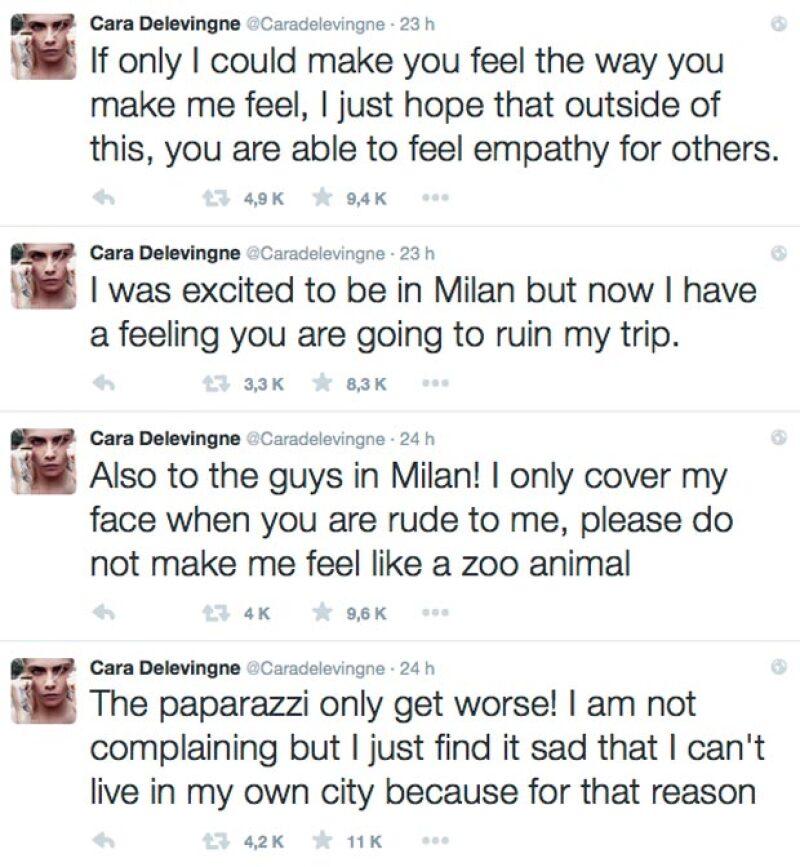 No pudo evitar su furia compartiendo una serie de mensajes vía Twitter.
