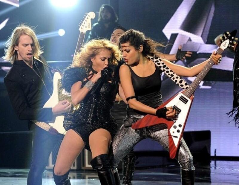 """Paulina contagió de energía a los asistentes al foro de """"X-Factor""""."""