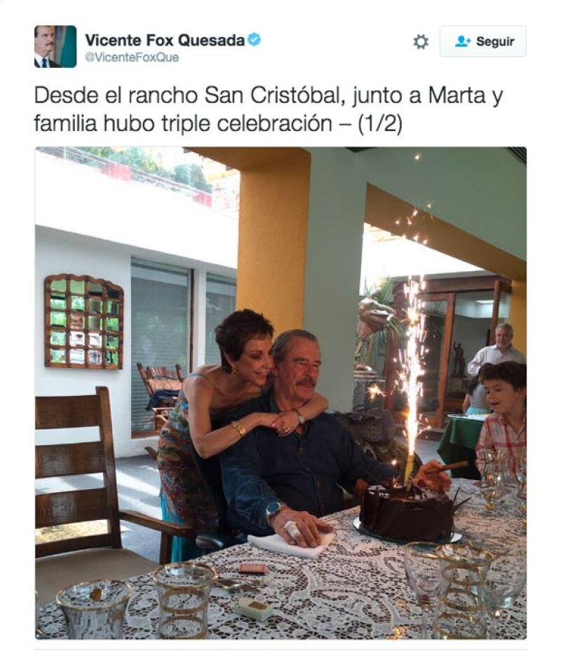 Y lo celebró en su rancho de San Cristóbal.