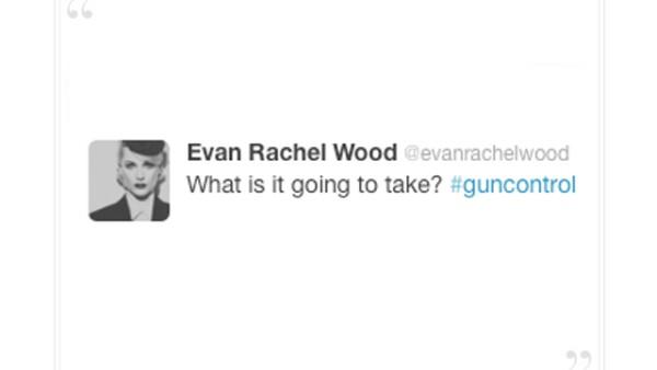 Evan Rachel Wood: ¿Qué se necesita? `Control de armas´