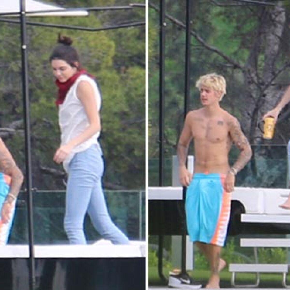Kendall Jenner y Justin Bieber hacen su propia &#39pool party&#39