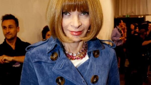 Es impensable una Semana de la Moda de París sin la presencia de Anna Wintour, aquí en la de este año.
