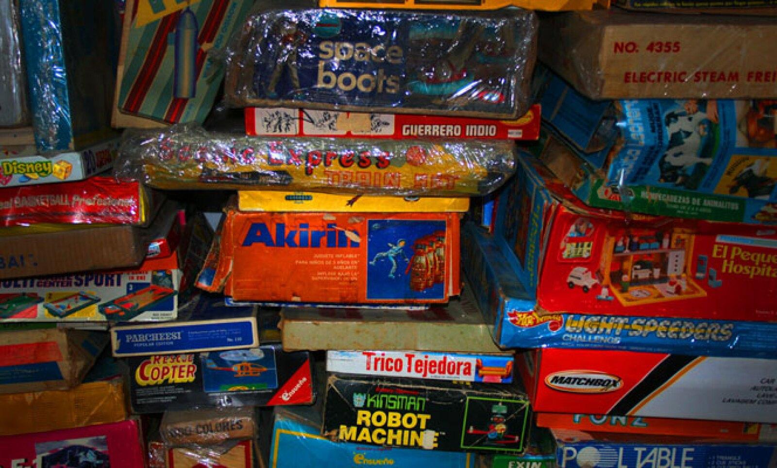 Aparte de los juguetes, su empaquetado mostraba gran ingenio de los fabricantes