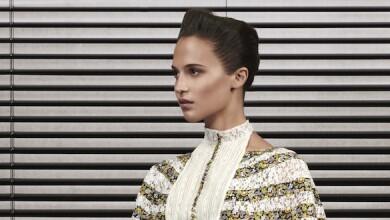 Alicia Vikander amiga de la marca, en la colección Pre-Fall