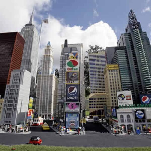 Miniland USA incluye modelos a escala de los rascacielos en NY y otras grandes ciudades.