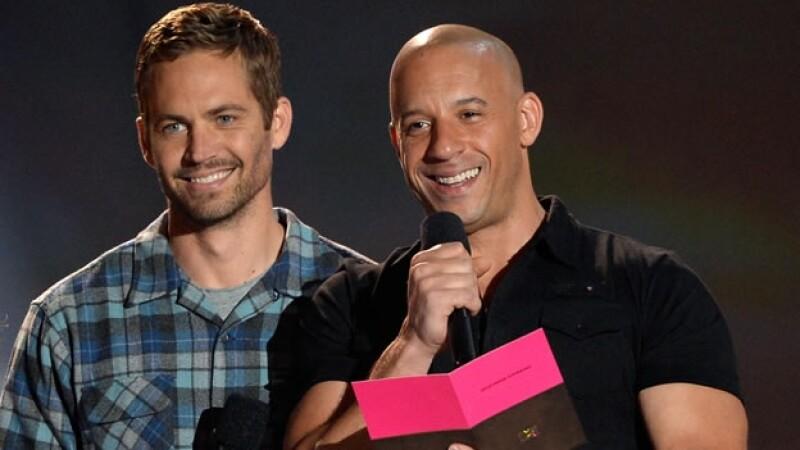 Paul Walker (izquierda) y Vin Diesel fueron coestelares de la película ?Rápido y Furioso? y generaron una amistad fuera de las cámaras