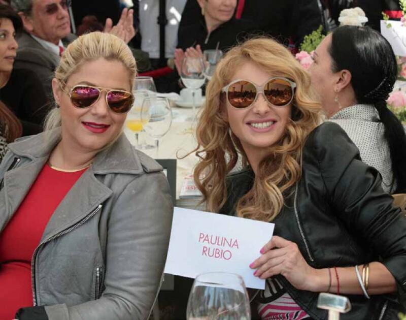 Liliana Sada y Paulina Rubio divertidísimas en el desayuno en 2013.