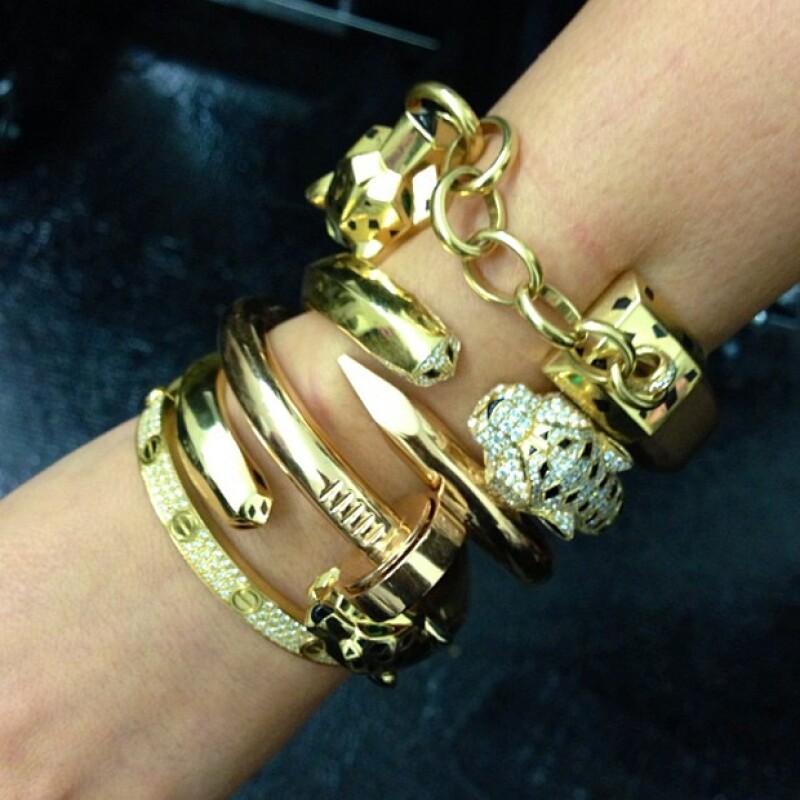 Estas son las pulseras Cartier que el rapero le regaló a su novia en París.