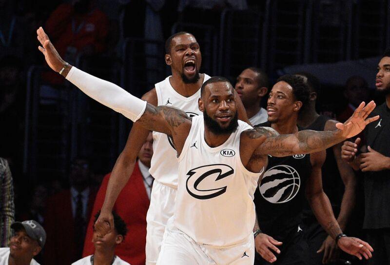 Kevin Durant y LeBron James
