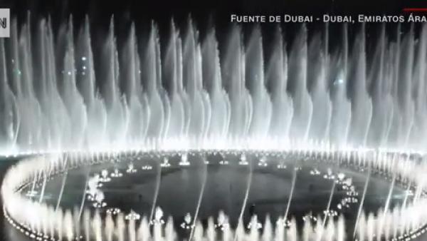 Así se hace la coreografía de agua de la fuente gigante de Dubai