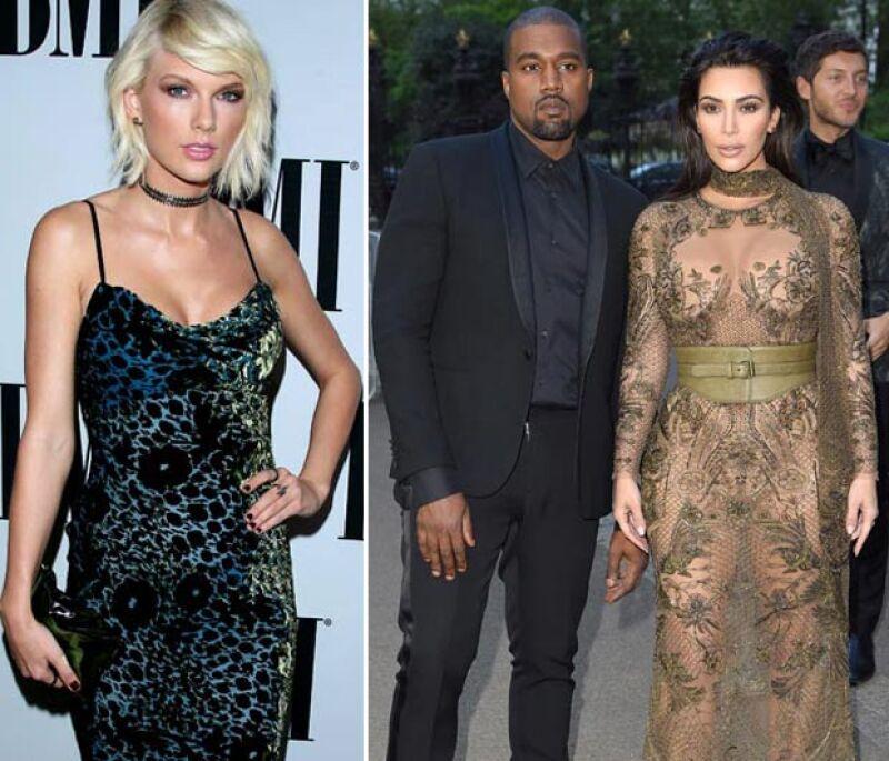 Taylor ha entrado en conflicto con Kim y Kanye por el tema `Famous´ del rapero, en el que la llama `zorra´.