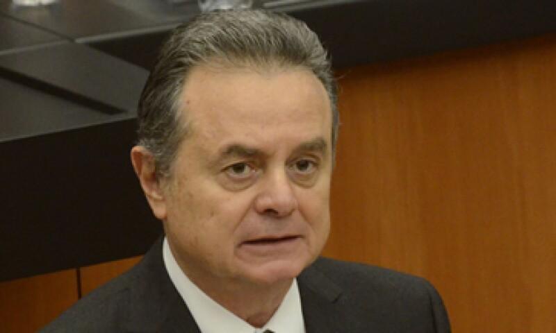 El secretario de Energía, Pedro Joaquín Coldwell, y el director de la CFE, Francisco Rojas, comparecieron ante el Senado de la República. (Foto: Notimex)