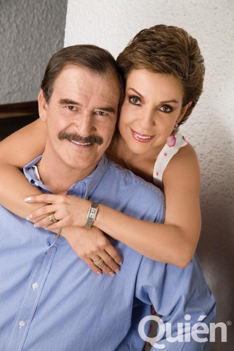 Vicente Fox y Marta Sahagún.