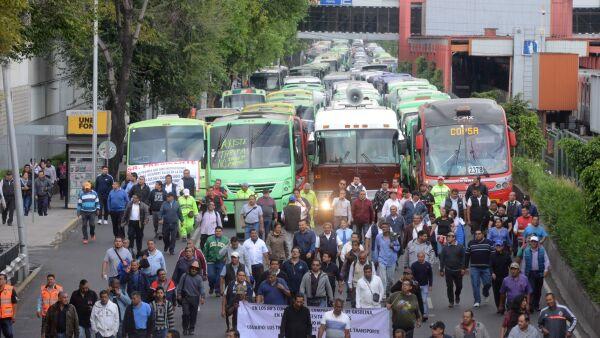 transporte público protesta