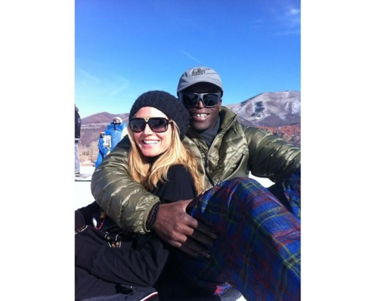 Esta fue la última fotografía que Heidi compartió en su cuenta de Twitter con su aún esposo Seal, durante sus vacaciones de invierno.