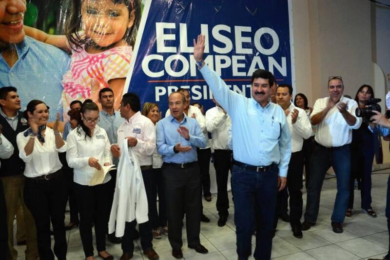 El candidato y el expresidente de la República encabezaron el arranque de las campañas para la renovación de los ayuntamientos y el congreso local.