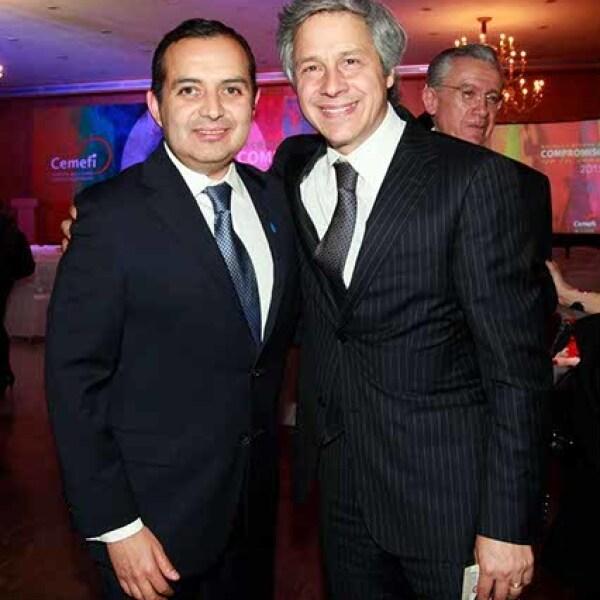 Ernesto Cordero y Claudio X. González