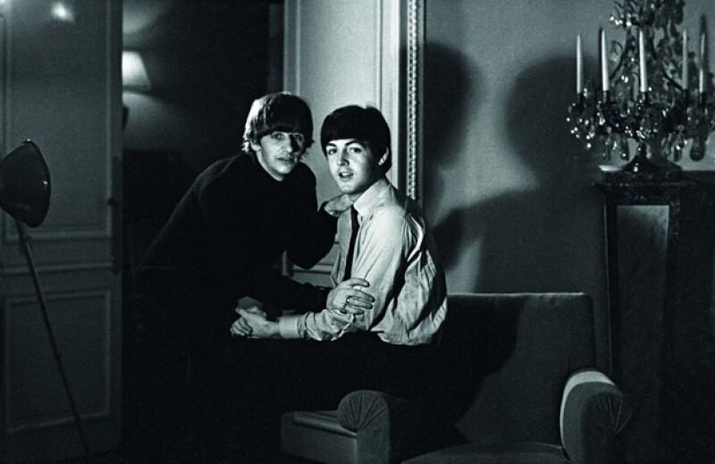 Una foto inédita de Ringo Starr y Paul McCartney.