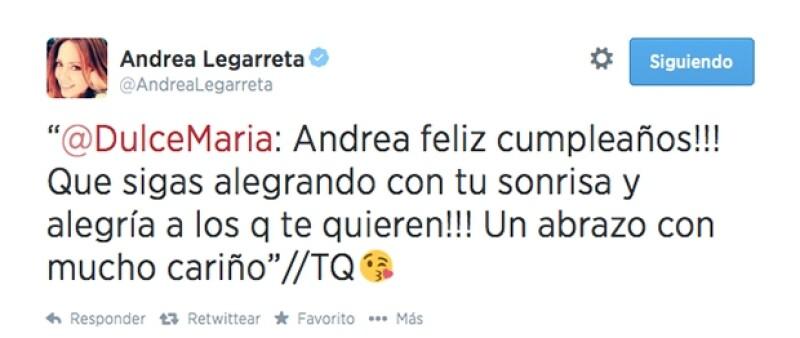 Dulce María ex RBD reconoció la capacidad de la coductora para ser feliz ante todo.
