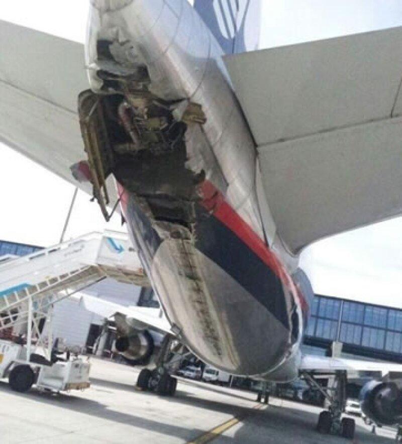 Aeroméxico dice que trabaja en encontrar las causas del accidente. (Foto: Tomada de Twitter)