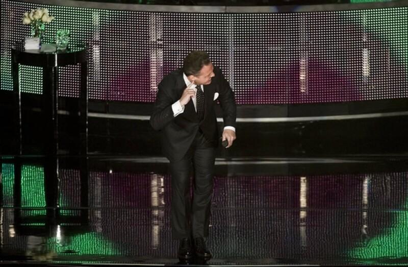 Luis Miguel estuvo muy sonriente durante toda la noche, disfrutando de su concierto.
