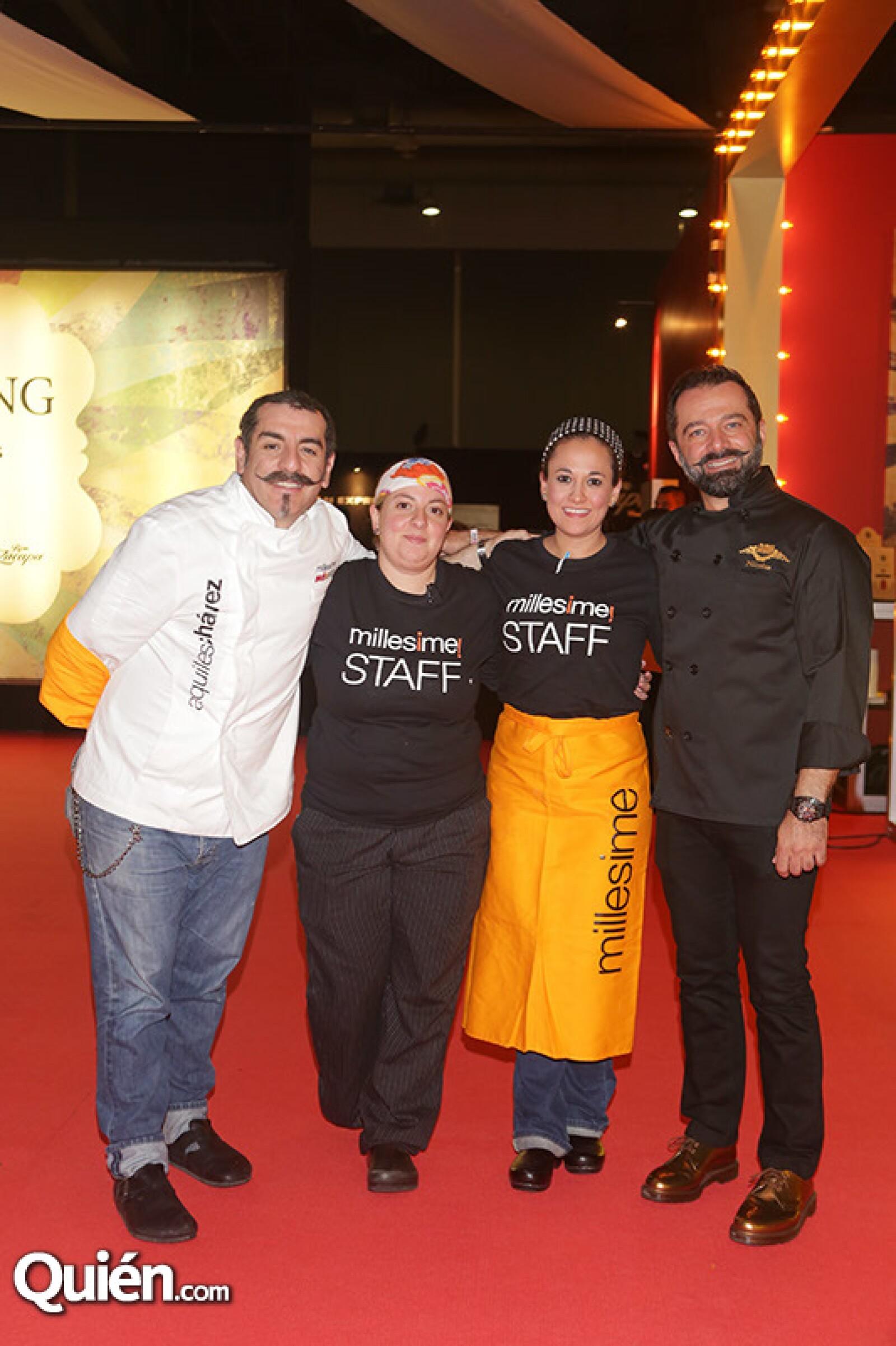 Aquiles Chávez, Jimena Ceballos, Sofía Martínez y Nicolás Martín del Campo